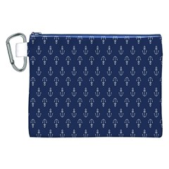 Anchor Pattern Canvas Cosmetic Bag (XXL)
