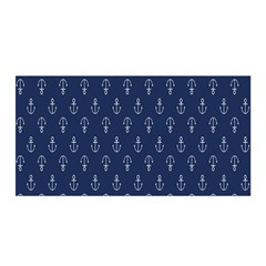 Anchor Pattern Satin Wrap
