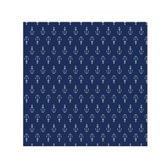 Anchor Pattern Small Satin Scarf (square)