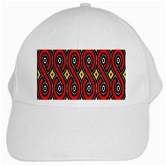 Toraja Traditional Art Pattern White Cap