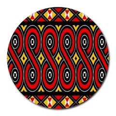 Toraja Traditional Art Pattern Round Mousepads