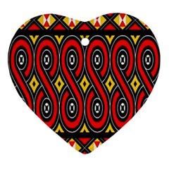 Toraja Traditional Art Pattern Ornament (heart)