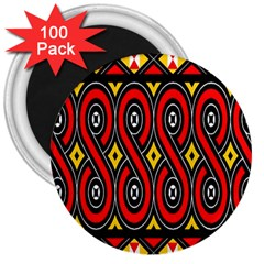 Toraja Traditional Art Pattern 3  Magnets (100 pack)