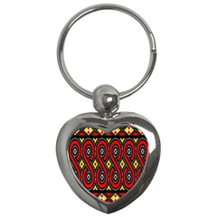 Toraja Traditional Art Pattern Key Chains (heart)