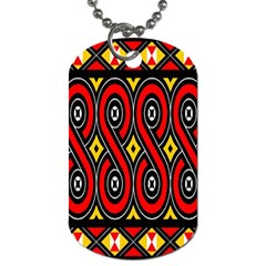 Toraja Traditional Art Pattern Dog Tag (One Side)