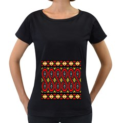 Toraja Traditional Art Pattern Women s Loose-Fit T-Shirt (Black)