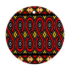 Toraja Traditional Art Pattern Round Ornament (Two Sides)