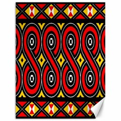 Toraja Traditional Art Pattern Canvas 12  X 16