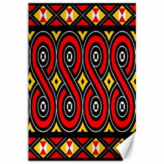Toraja Traditional Art Pattern Canvas 12  X 18