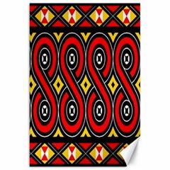 Toraja Traditional Art Pattern Canvas 20  x 30