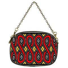 Toraja Traditional Art Pattern Chain Purses (two Sides)