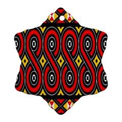 Toraja Traditional Art Pattern Ornament (snowflake)