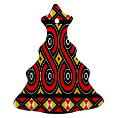 Toraja Traditional Art Pattern Christmas Tree Ornament (Two Sides)