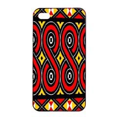 Toraja Traditional Art Pattern Apple Iphone 4/4s Seamless Case (black)