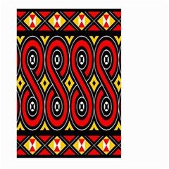 Toraja Traditional Art Pattern Large Garden Flag (two Sides)