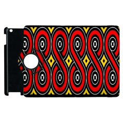 Toraja Traditional Art Pattern Apple Ipad 2 Flip 360 Case