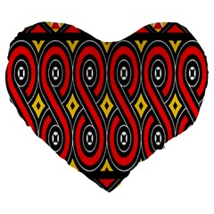 Toraja Traditional Art Pattern Large 19  Premium Heart Shape Cushions