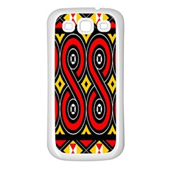 Toraja Traditional Art Pattern Samsung Galaxy S3 Back Case (White)