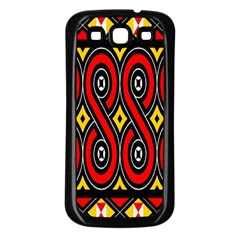 Toraja Traditional Art Pattern Samsung Galaxy S3 Back Case (black)