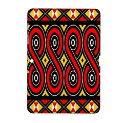 Toraja Traditional Art Pattern Samsung Galaxy Tab 2 (10 1 ) P5100 Hardshell Case