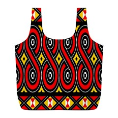 Toraja Traditional Art Pattern Full Print Recycle Bags (l)