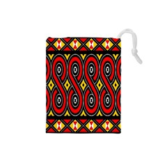 Toraja Traditional Art Pattern Drawstring Pouches (small)
