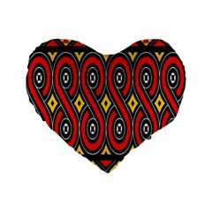Toraja Traditional Art Pattern Standard 16  Premium Flano Heart Shape Cushions
