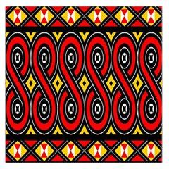 Toraja Traditional Art Pattern Large Satin Scarf (square)