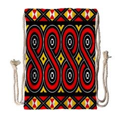Toraja Traditional Art Pattern Drawstring Bag (Large)