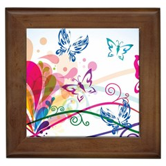 Butterfly Vector Art Framed Tiles