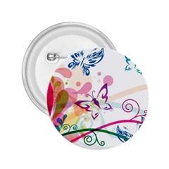Butterfly Vector Art 2.25  Buttons