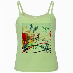 Butterfly Vector Art Green Spaghetti Tank