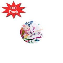 Butterfly Vector Art 1  Mini Magnets (100 Pack)