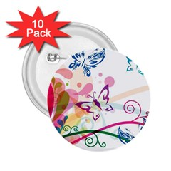 Butterfly Vector Art 2 25  Buttons (10 Pack)