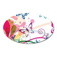 Butterfly Vector Art Oval Magnet