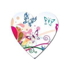 Butterfly Vector Art Heart Magnet