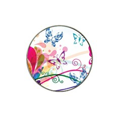 Butterfly Vector Art Hat Clip Ball Marker (10 Pack)