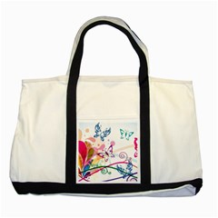 Butterfly Vector Art Two Tone Tote Bag