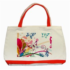 Butterfly Vector Art Classic Tote Bag (red)
