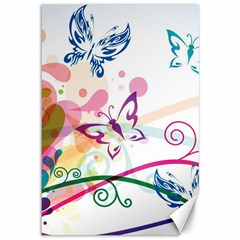 Butterfly Vector Art Canvas 12  x 18