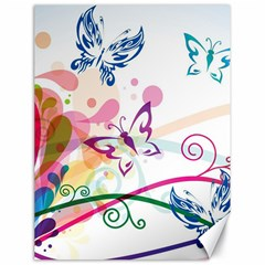 Butterfly Vector Art Canvas 18  x 24