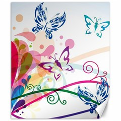 Butterfly Vector Art Canvas 20  X 24