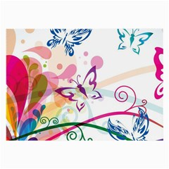 Butterfly Vector Art Large Glasses Cloth (2 Side)