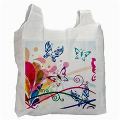 Butterfly Vector Art Recycle Bag (one Side)