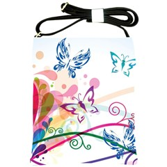 Butterfly Vector Art Shoulder Sling Bags