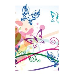 Butterfly Vector Art Shower Curtain 48  X 72  (small)