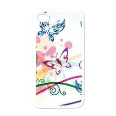 Butterfly Vector Art Apple Iphone 4 Case (white)