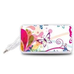 Butterfly Vector Art Portable Speaker (white)