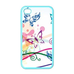 Butterfly Vector Art Apple iPhone 4 Case (Color)