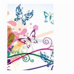 Butterfly Vector Art Small Garden Flag (two Sides)